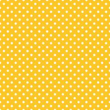 Mustard Yellow #Seamless Vector Polka Dot Pattern