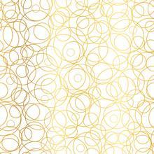 Vector Golden Abstract Circles...