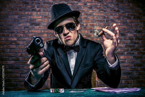 Fotografie, Tablou mafia gangster man