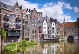 Delfshaven in Rotterdam, historic centre of Netherlands