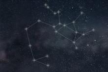 Sagittarius Constellation. Zodiac Sign Sagittarius Constellation  Lines