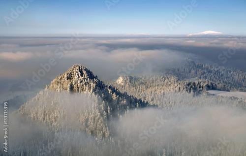 Canvas Prints Hill Pieniny winter hills