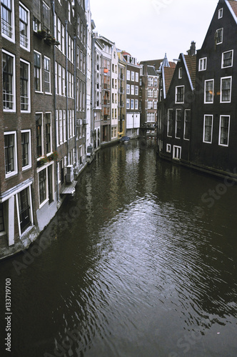 Staande foto Amsterdam Canal buildings, Amsterdam, Netherlands