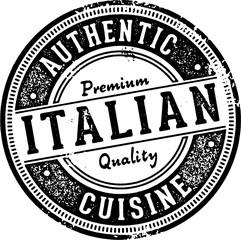 Panel Szklany Do pizzerii Authentic Italian Cuisine