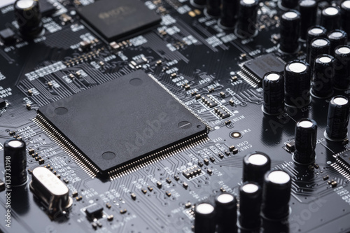 Fotografía  Electronic chip
