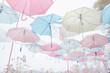 canvas print picture - Umbrella pattern pastel