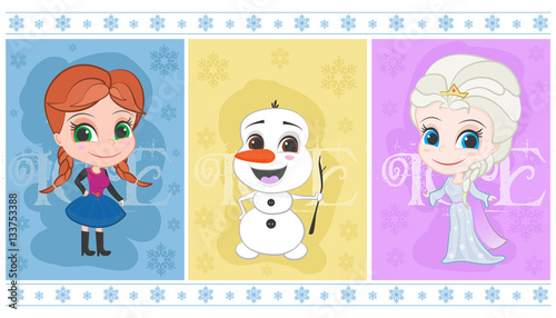 Photographie  Ice Princesses and Snowman