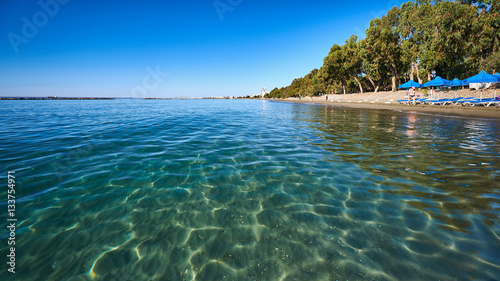 Garden Poster Cyprus Clear sea water at Dasoudi beach in Limassol, Cyprus