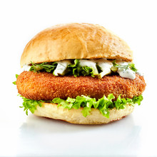 Breaded Chicken Burger With Fresh Salad