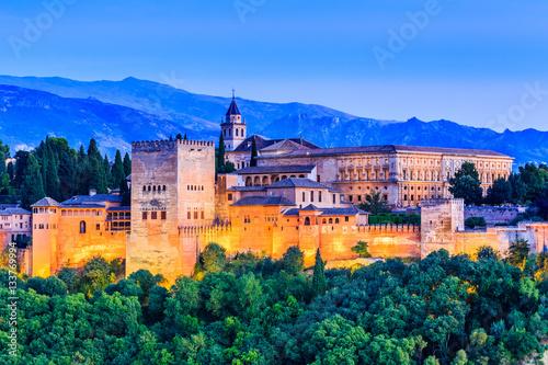 Photo  Alhambra, Granada, Spain.