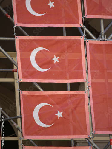 Fotografia  Turkish flagg exhibition Kanak Attack at the Museumsquartier 200