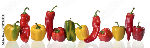 Poster Légumes frais Peperoni in fila