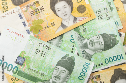 Fotomural  south korea won money