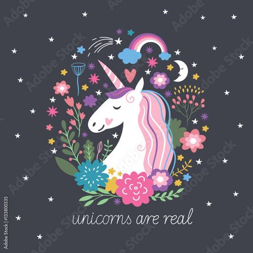 unicorns are real kaufen sie diese vektorgrafik und. Black Bedroom Furniture Sets. Home Design Ideas
