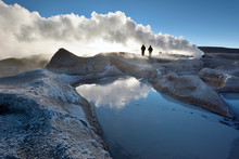 Steaming Hot Water Ponds And M...