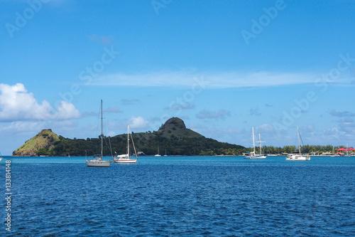 Staande foto Caraïben Kleine Antillen - St. Lucia - Rodney Bay