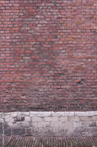 Poster Baksteen muur Alte Mauer aus Stein