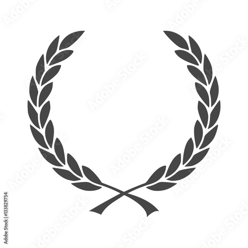 Fotografie, Obraz  Vector Laurel Wreath - Illustration icon