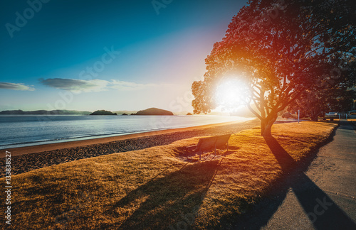 Foto op Canvas Nieuw Zeeland Sunrise from Te Ti Bay, Paihia, New Zealand