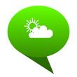 Leinwanddruck Bild - cloud green bubble icon
