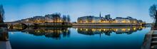 Seine River In Paris France At...