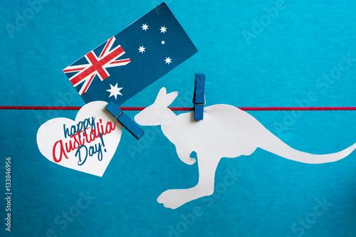 Celebrate australia day holiday on january 26 with a happy australia celebrate australia day holiday on january 26 with a happy australia day message greeting written across m4hsunfo