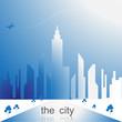 the city icon vector