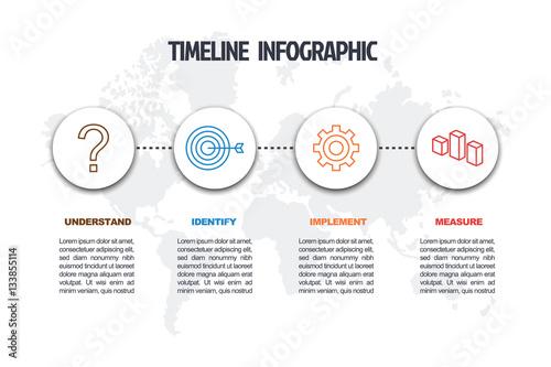 Fotografía  business minimal infographic template