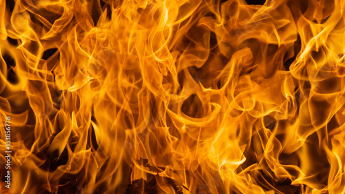 Poster Fire / Flame Blazing fire flame background and textured