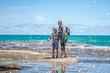 muriwai beach, splashing water, ocean and water waves