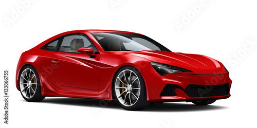 czerwony-samochod-coupe