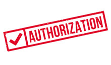 Authorization Rubber Stamp. Gr...