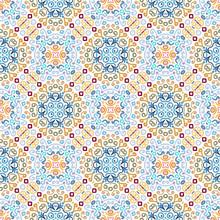 Blue Weave Pattern Emblem Design