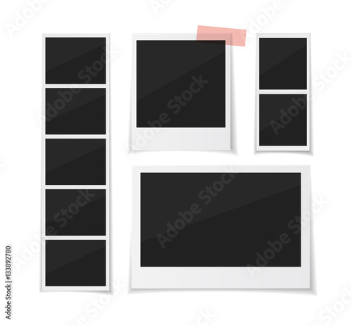 Enjoy every moment. Instant photo frame collection. Vector ...