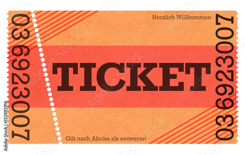 Fotografía  Classic Ticket - Vintage Design / Retro Style - Ticket Shop - Webshop / Online-S