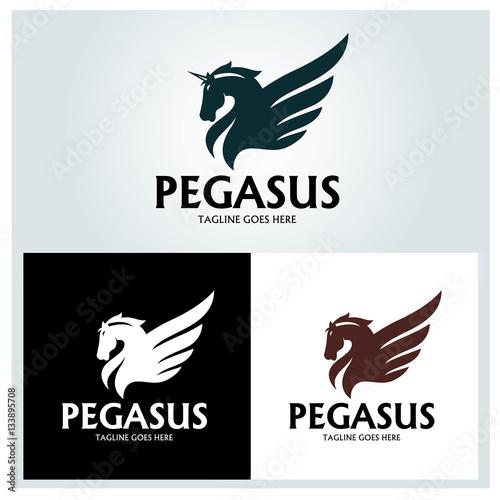 Fototapeta Pegasus logo design template ,Vector illustration