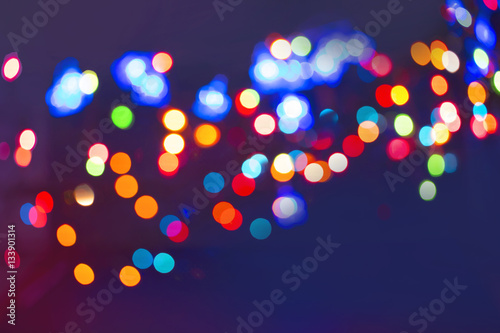 Obraz Color light blurred - fototapety do salonu