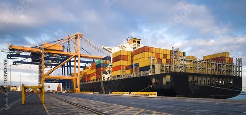 Fotografia, Obraz  Container Operation in Port Terminal