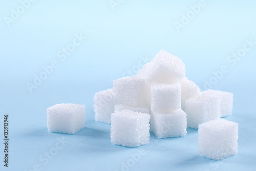 Fotografie, Obraz  sugar cubes on an isolated background