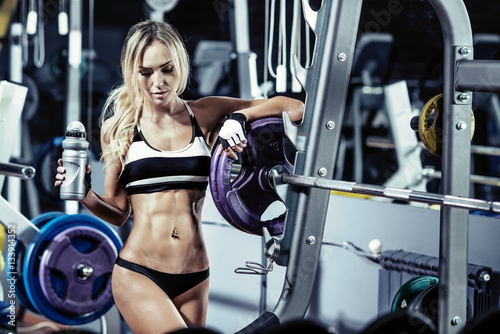 Photo  young fitness woman