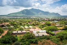 Town Of Voi Panorama, Kenya