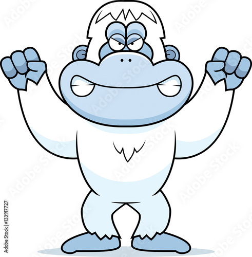 Photo  Angry Cartoon Yeti