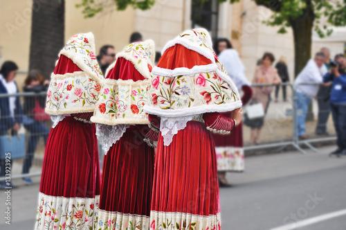 Obraz na płótnie Sardinian traditional women costumes