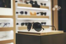Elegant Sunglasses In A Fashion Store Showcase
