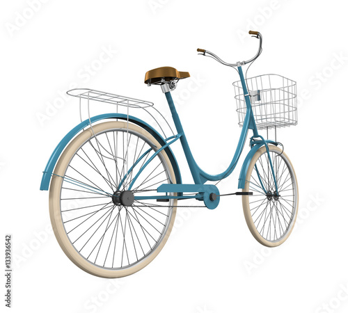 In de dag Fiets Vintage Bicycle Isolated