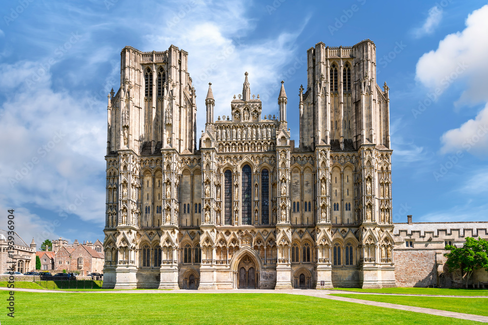 Fototapety, obrazy: West front of Wells Cathedral