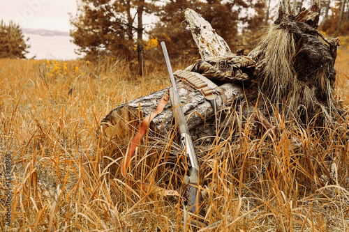 Foto op Canvas Jacht Autumn hunting season. Hunting Conceptual background. Outdoor sports.