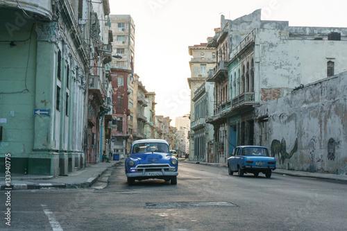 Deurstickers Havana La Havana, Cuba – December 25, 2016: street view from La Havana Center, dairy cuban life, travel general imagery