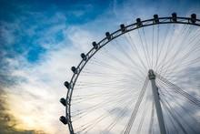 Toned Flyer. Large Ferries Wheel.