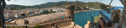 Panoramic view of the village of Tossa de Mar